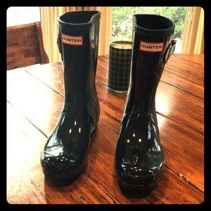 Hunter boots - Original Short Gloss. S 7.  Green